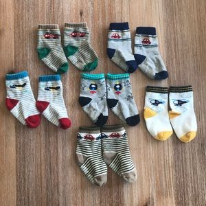 Other - Boy socks, 6-12 mo, with grippers, 6 pairs